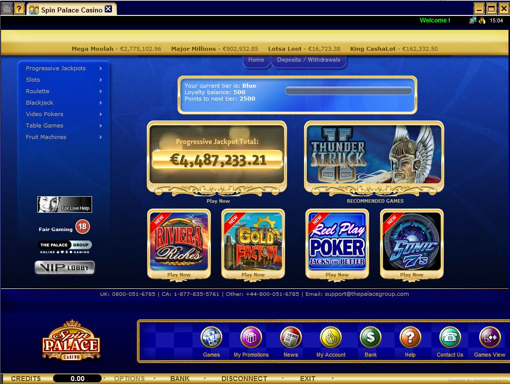 Download Spin Palace Casino